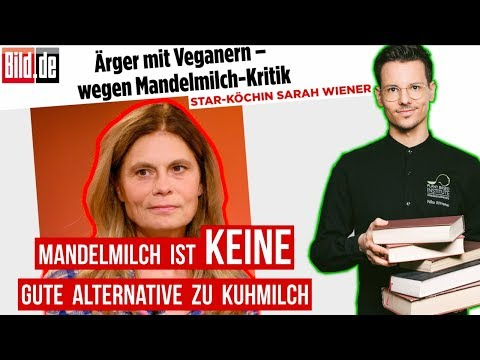 """RE: Sarah Wiener """"Mandelmilch ist KEINE gute Alternative zu Kuhmilch"""" • Antwort Niko Rittenau"""