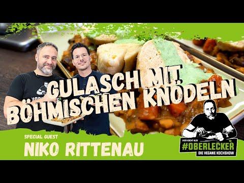 Veganes Gulasch mit böhmischen Knödeln... Special Guest ist Niko Rittenau